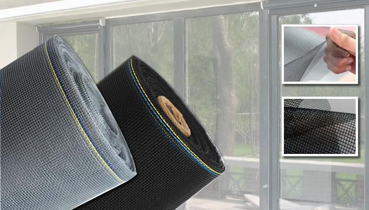 Charcoal Fiberglass Mesh Screen - Charcoal Black Fiberglass Mesh For Window Screen, Porch And Patio